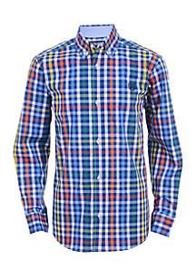 Boys 4-7 Long Sleeve Woven Shirt