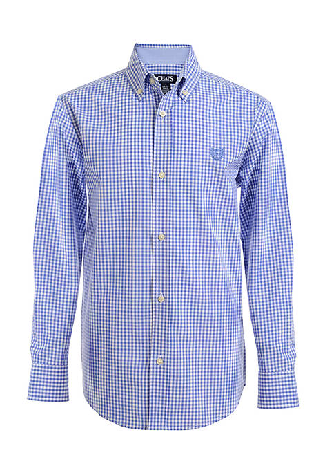 Chaps Gingham Woven Button-Front Shirt Boys 8-20