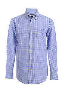 Gingham Woven Button-Front Shirt Boys 8-20