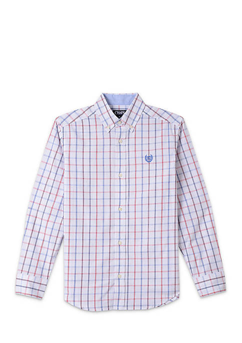 Chaps Woven Button Front Shirt Boys 8-20