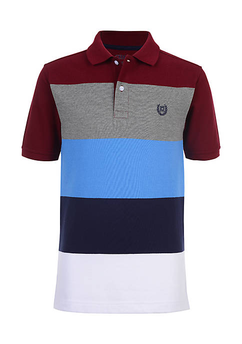 Chaps Boys 4-7 Dominic Colorblock Stripe Polo Shirt
