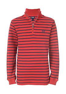 Boys 8-20 1/4 Zip Stripe Mini-Thermal Sweater