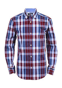 Boys 4-7 Jordan Long Sleeve Woven Shirt