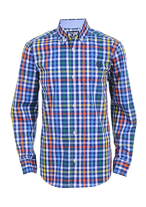 Chaps Boys 8-20 Carson Long Sleeve Woven Shirt