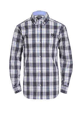 2fa81d653af Chaps Boys 8-20 Long Sleeve Stretch Plaid Woven Shirt ...