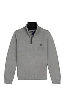 Boys 8-20 1/4 Zip Solid Sweater