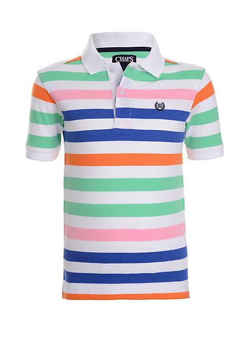 Chaps Boys 4-7 Short Sleeve Fashion Stripe Polo
