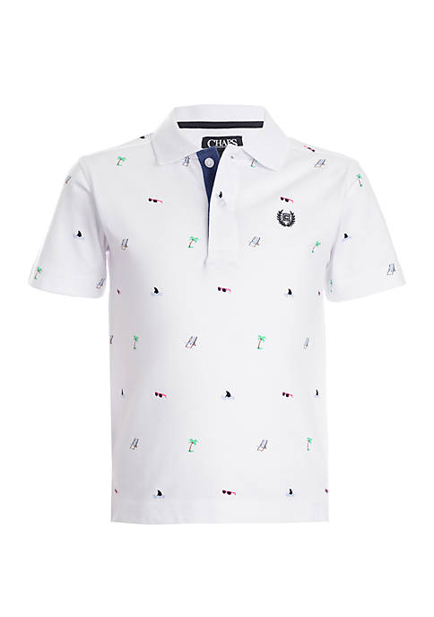 Boys 4-7 Short Sleeve Printed Polo