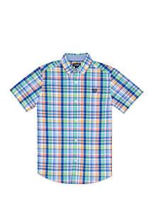 Chaps Boys 4-7 Fashion Woven Plaid Shirt