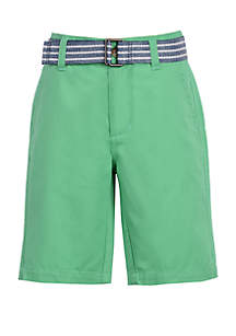 Chaps Boys 4-7 Stripe Belted Shorts