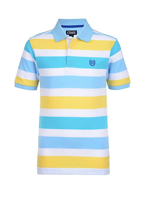 Boys 8-20 Piqué Stripe Polo Shirt