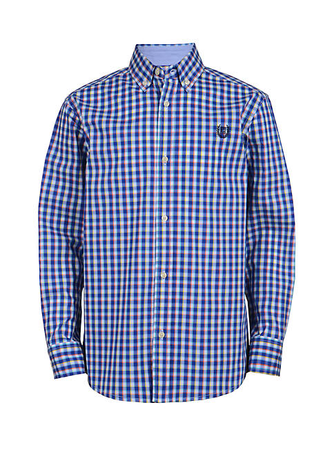 Chaps Boys 4-7 Long Sleeve Woven Button Down