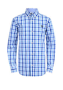 Boys 4-7 Long Sleeve Woven Shirt
