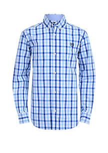 Boys 8-20 Long Sleeve Woven Top