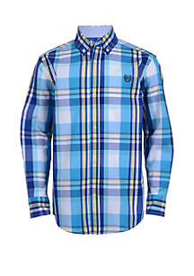 Chaps Boys 8-20 Long Sleeve Woven Button Down Shirt