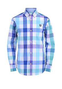 Boys 4-7 Long Sleeve Woven Top