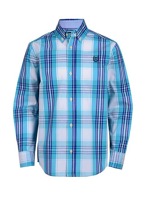 Chaps Boys 4-7 Plaid Woven Shirt