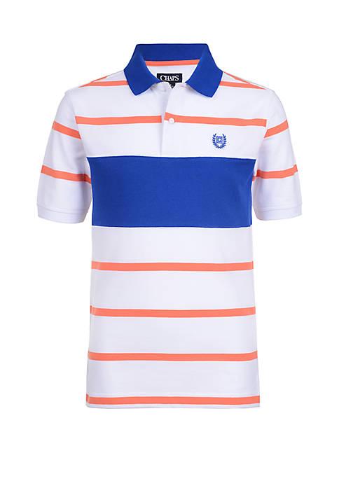 Chaps Boys 4-7 Pique Stripe Polo Shirt