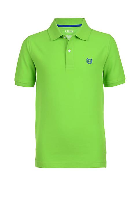 Chaps Boys 4-7 Solid Pique Polo Shirt
