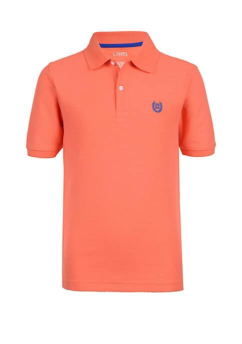 Boys 4-7 Solid Pique Polo Shirt