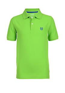 Chaps Boys 8-20 Solid Piqué Polo Shirt