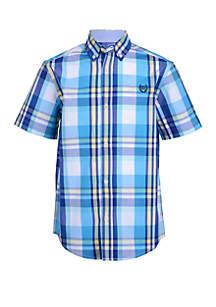 Chaps Boys 4-7 Aden Short Sleeve Woven Shirt