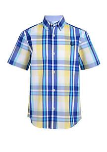 Chaps Boys 4-7 Woven Short Sleeve Shirt