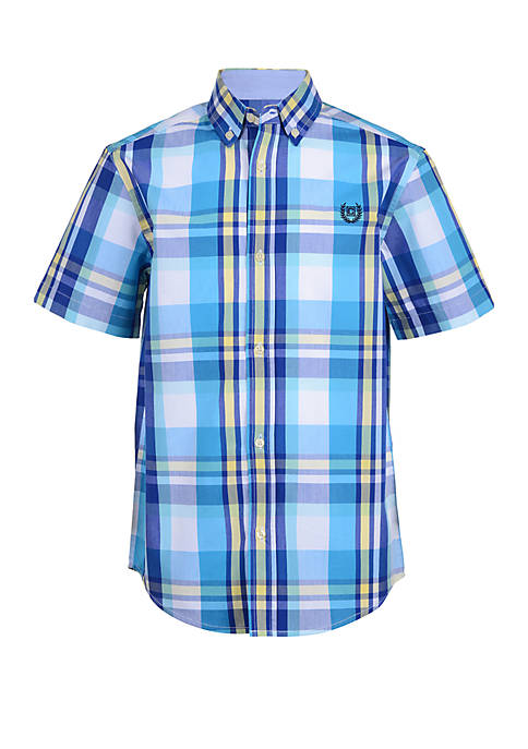 9e7b916b6 Chaps Boys 8-20 Aden Short Sleeve Woven Shirt