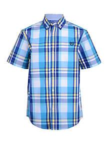 Chaps Boys 8-20 Aden Short Sleeve Woven Shirt