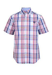 Chaps Boys 8-20 Short Sleeve Woven Shirt