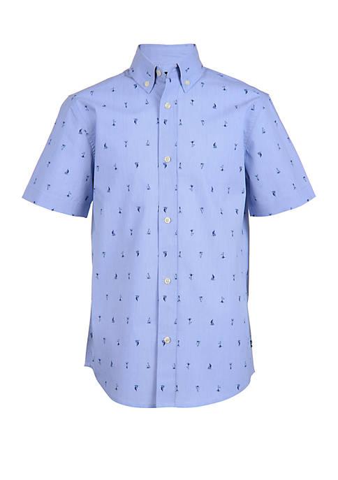 Chaps Boys 4 -7 Short Sleeve Woven Shirt