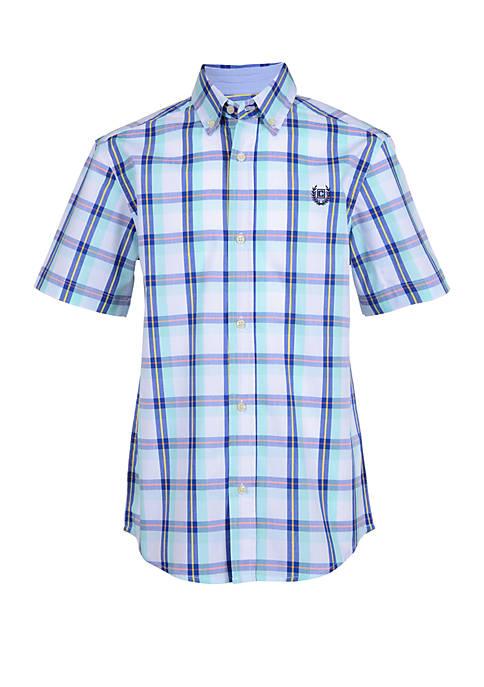 Chaps Boys 8-20 Short Sleeve Woven Tee