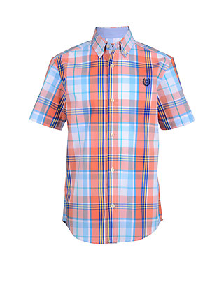 bc557c4f35c Chaps Boys 8-20 Jeremy Short Sleeve Woven Plaid Shirt