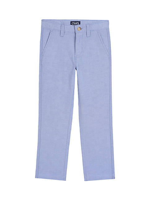 Chaps Boys 8-20 Flat Front Straight Oxford Pants
