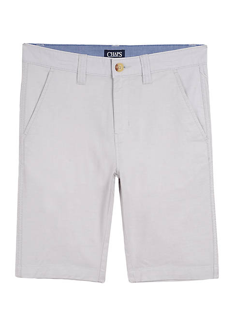 Chaps Boys 8-20 Straight Oxford Shorts