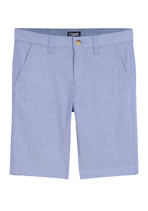 Boys 8-20 Straight Oxford Shorts