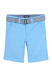 Chaps Boys 4-7 Belted Shorts