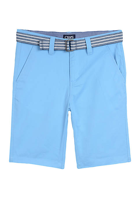 Chaps Boys 8-20 Belted Shorts