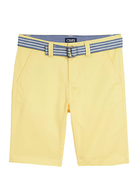 Boys 8-20 Belted Shorts