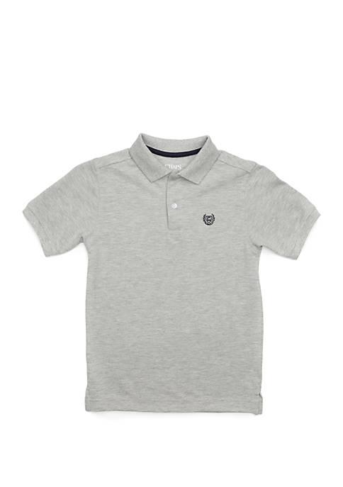 Boys 4-7 Houston Heathered Solid Polo Shirt