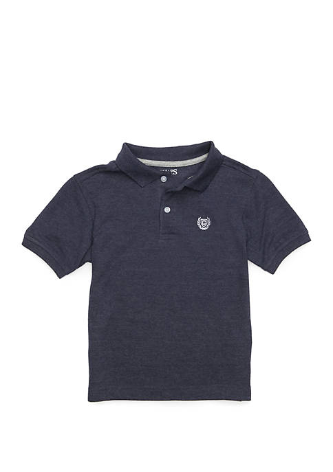 Chaps Boys 4-7 Houston Heathered Solid Polo Shirt