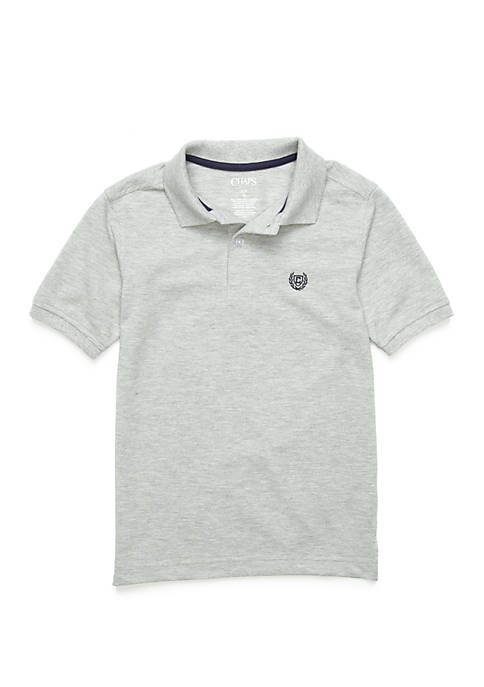 Chaps Boys 8-20 Houston Heathered Polo Shirt