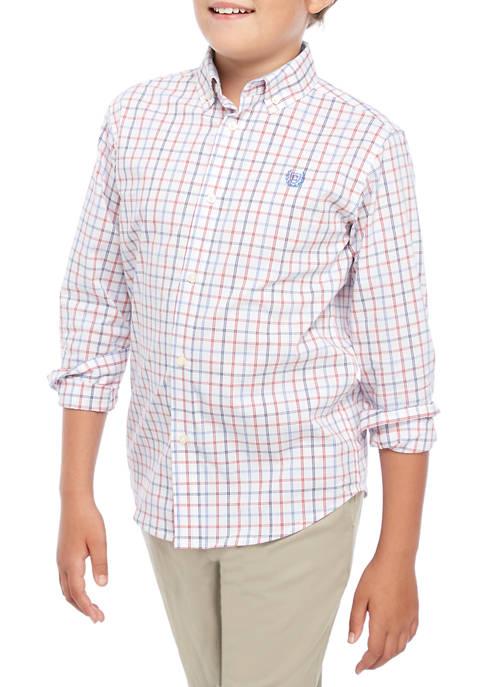 Chaps Boys 8-20 Isaac Tattersall Woven Shirt