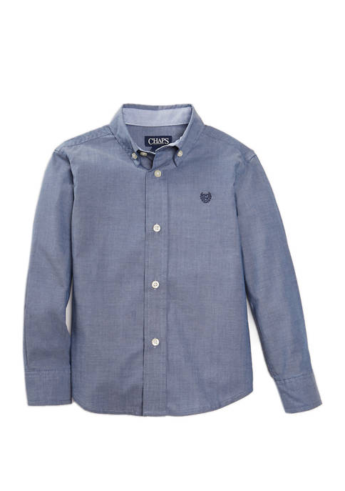 Chaps Boys 4-7 Long Sleeve Chambray Woven Shirt