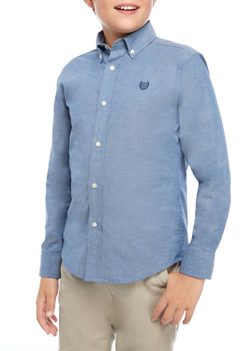 Boys 8-20 Chambray Button Down Shirt