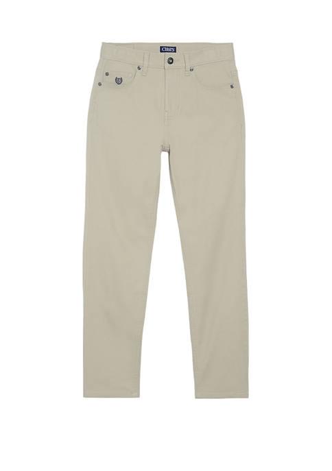 Boys 4-7 Bleeker 5 Pocket Solid Twill Pants