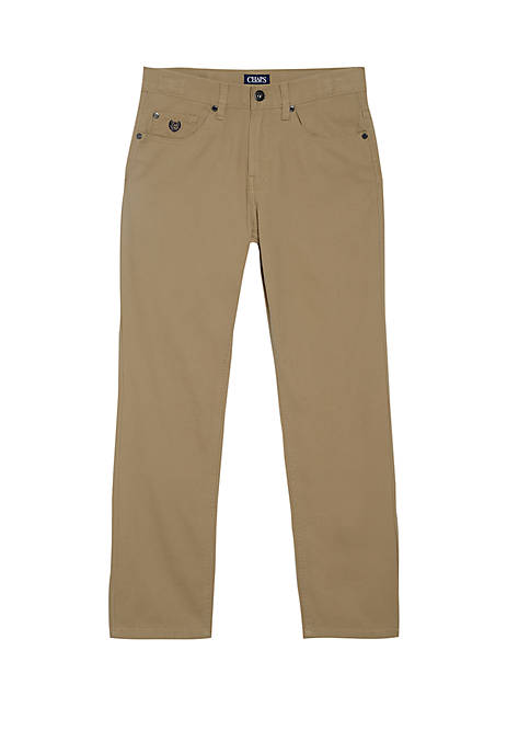 Chaps Boys 8-20 Bleeker Solid Twill Pants