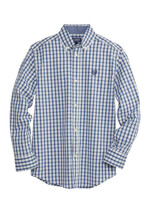 Chaps Boys 8-20 Tattersall Plaid Shirt