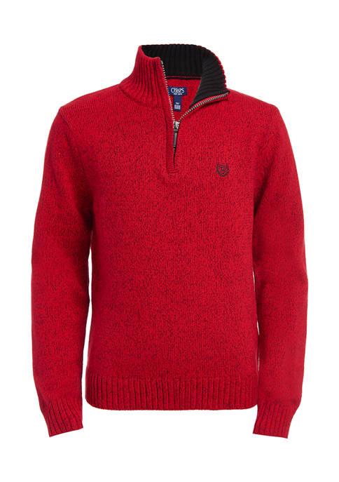 Chaps Boys 8-20 Twist Yarn Zip Neck Sweater