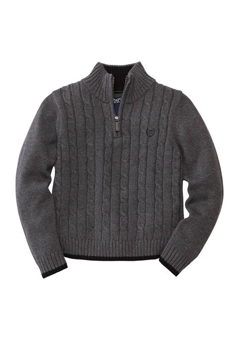 Chaps Boys 4-7 Cable Knit 1/4 Zip Sweater